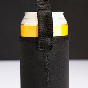 Чехол для бутылки 14х6,5см, цвет микс