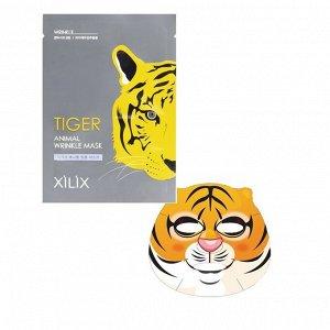 """АКЦИЯ!!! Маска для лица разглаживающая морщины  """"Tiger Animal"""" 25 г / 10 / 500"""