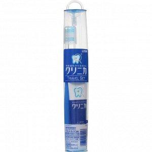 Дорожный набор Clinika Travel set для чистки зубов (чехол на молнии + щетка + паста) 30г /120
