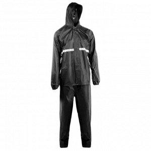 Дождевик-костюм, размер 50-54, цвет чёрный