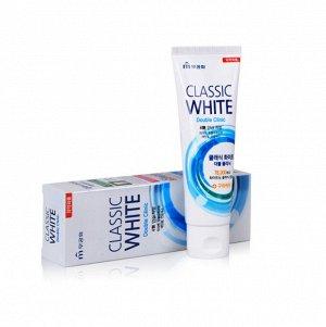 Зубная паста «Classic White» отбеливающая двойного действия с микрогранулами с ароматом мяты и ментола (туба в коробке) 110г /40