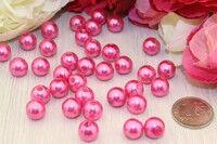 Бусины под жемчуг (темно-розовый)10 мм в упаковке 25 шт.