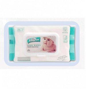 YourSun Детские влажные салфетки, 80 шт * 3 упаковки
