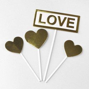 Топпер «Любовь», набор 4 шт.