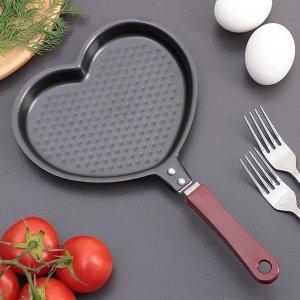 """Сковорода 17 см """"Сердце"""", антипригарное покрытие"""