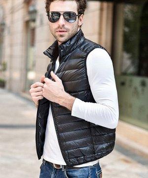 Мужской ультралегкий жилет, цвет черный