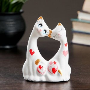 """Фигура """"Коты влюбленные"""" малые белые 5?9?11см 074"""