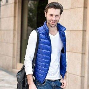 Мужской ультралегкий жилет, цвет ярко-синий