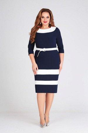 Платье Lady Line 462 сине-молочный