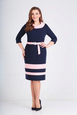 Платье Lady Line 462 сине-розовый