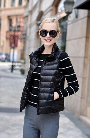 Женский ультралегкий жилет, цвет черный