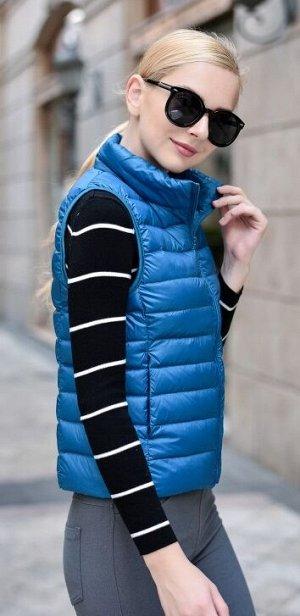 Женский ультралегкий жилет, цвет голубой