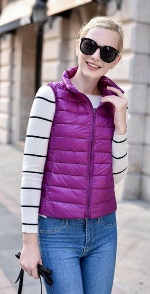 Женский ультралегкий жилет, цвет фиолетовый