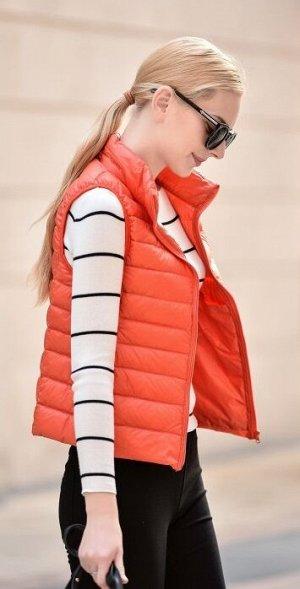 Женский ультралегкий жилет, цвет оранжевый