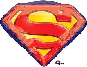 "1207-2764 Шар-фигура, фольга, ""Супермен. Эмблема"" (AN), 26""/66 см х 20""/50 см, инд. уп."