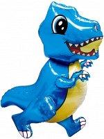 """15529 Шар-фигура ходячая, фольга, ПОД ВОЗДУХ """"Динозавр маленький"""", синий (Falali), 30""""/76 см, инд. уп."""