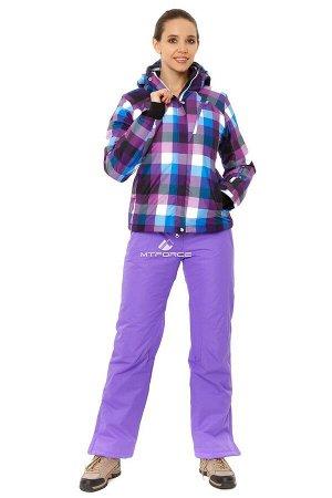 Женский зимний костюм горнолыжный фиолетового цвета 01807F