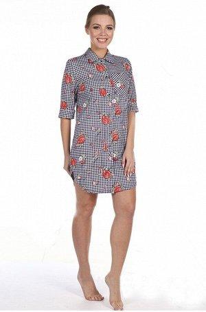 Туника-рубашка женская Рубин