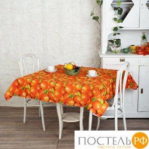 """Скатерть """"Ассорти"""" 145х180, рогожка, 100 % хлопок, """"Апельсины"""""""