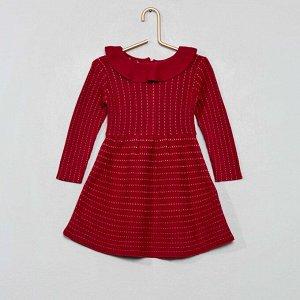 Трикотажное платье - красный бордо