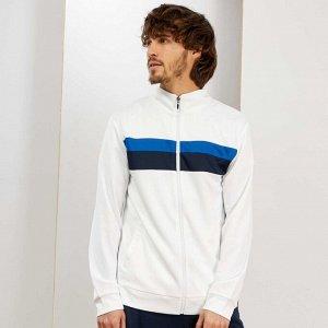 Спортивная куртка в винтажном стиле - белый