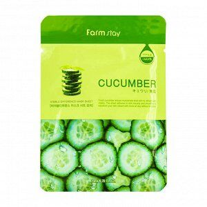 Farm Stay Visible Difference Mask Sheet Cucumber Тонизирующая тканевая маска для лица с экстрактом огурца