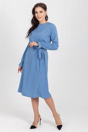 Платье Манила (горох небесно-голубой) П1194-15