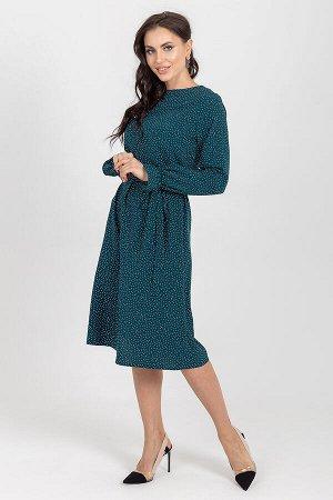 Платье Манила (горох изумруд) П1193-15