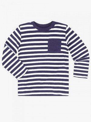 BKT000858 фуфайка детская, темно-сине/белая