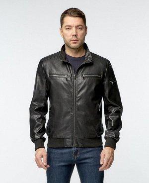 . Черный; Коричневый;    Куртка 597 Стильная, удобная куртка, изготовлена с использованием высокотехнологичного материала - Эко-кожи. Два нижних боковых кармана на молниях, два нагрудных кармана на