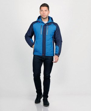 . Синий; Серый;    Куртка PCX 66817 Стильная удобная куртка изготовлена из высококачественных материалов. Два боковых кармана на клепках + два боковых кармана на молниях, два нагрудных кармана на мол