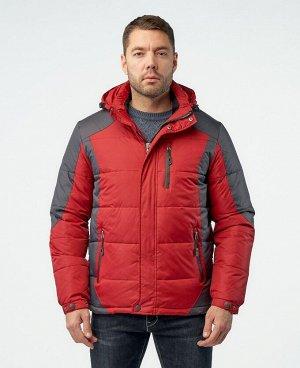 . Красный / Темно-серый; Синий / Темно-серый; Светло-серый / Темно-серый;   Стильный, комфортный пуховик, изготовлен из качественной ветрозащитной ткани с водоотталкивающим покрытием.  Двухсторон