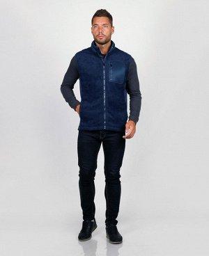 . Синий;    Жилет ERD F509A Стильный жилет, фабричное производство, качественный пошив. Два боковых кармана, нагрудный карман на молнии - удобный для телефона и мелких предметов, два внутренних карма