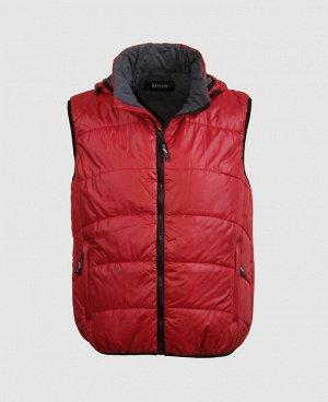 . Красный; Темно-синий; Черный;    Жилет 57168  Комфортный, удобный при носке жилет. Два наружных кармана на молниях, внутренний карман на молнии. Резинка по краю капюшона, пройме рукава, низу жи