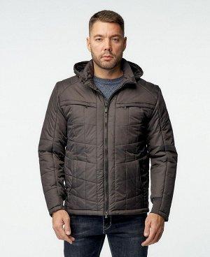 . Коричнево-зеленый;    Куртка мужская 57154/1 Комфортная, удобная при носке куртка. Два нагрудных кармана на молниях, нижние боковые карманы на магнитной застежке, два внутренних кармана на молниях,