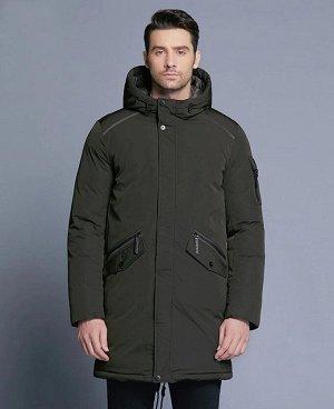 . Оливково-черный;    Куртка ICR 18718  Стильная, комфортная куртка - парка, изготовлена из качественной ветрозащитной ткани с водоотталкивающим покрытием. Двухсторонняя основная молния (возможност