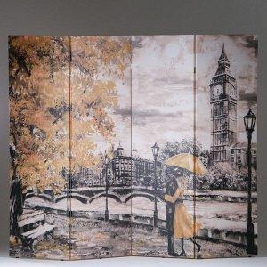 """Ширма """"Картина маслом. Прогулка по Лондону"""", 200 ? 160 см"""