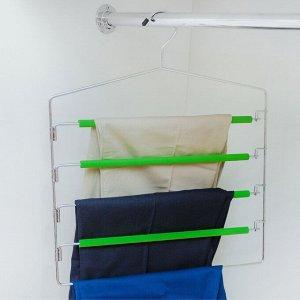 Вешалка многоярусная Доляна, антискользящее покрытие, цвет МИКС