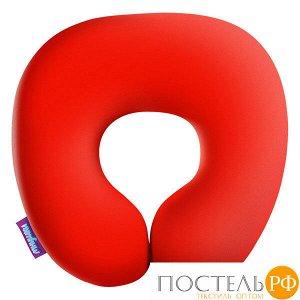 Подушка под шею «Релакс» (H2929C1705A001OR, 29х29, Оранжевый, Кристалл, Микрогранулы полистирола)
