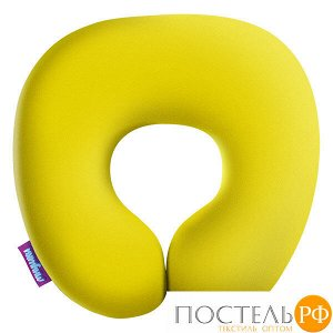 Подушка под шею «Релакс» (H2929C1705A004YL, 29х29, Желтый, Кристалл, Микрогранулы полистирола)
