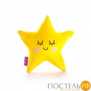 Игрушка «Я Звезда»  (T2625C0818S009YL, 26х25, Желтый, Стрейч бархат, Микрогранулы полистирола)