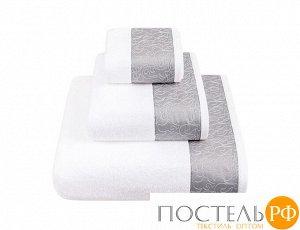 """Полотенце с вышивкой  """"CASTELLO"""" ТМ """"BOVI"""" 100% хлопок, 550г/м2  р-р: 30 x 50см, цвет:  белый/серый"""
