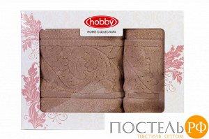 """H0000427 Махровое полотенце в коробке 50x90+70x140 """"SULTAN"""", бежевый, 100% Хлопок"""