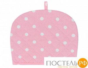 Чехол на чайник «Горох розовый» рогожка 30х25