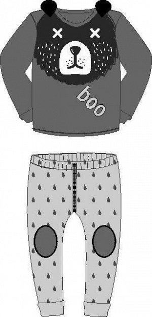 Пижама  для мальчика (футболка длинный рукав, штаны)