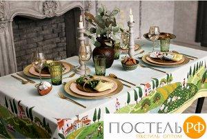 """Набор столовый """"Этель"""" Тоскана, скатерть 110х150 см, салф. 40х40 см-4шт, 100% хл   4136552"""