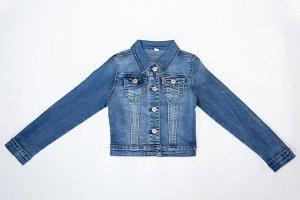 Куртка джинс голубой для девочек