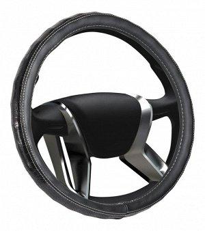 """Чехол на руль """"SENATOR Arizona"""" OPLS0202 кожаный, L, d=40см, черный"""