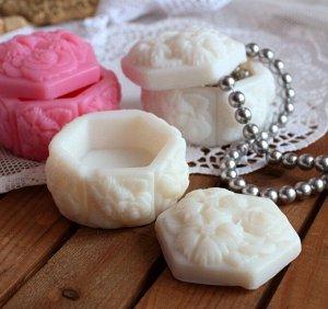 Белая Цветочная шкатулка - мыло ручной работы в виде шкатулки арт. milotto003202