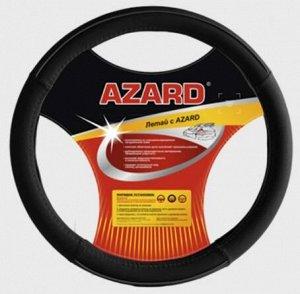"""Чехол на руль """"AZARD виниловый"""" OPLA0114 объемный винил, L, d=40см, черный"""